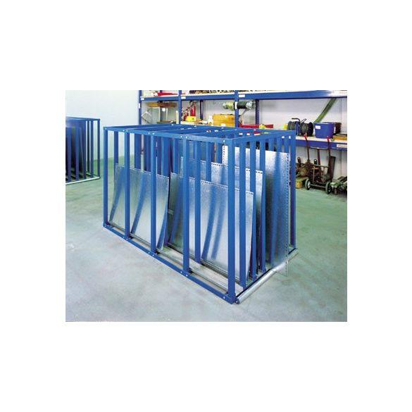 Lemez tároló állvány, 1100x2500x1500 mm