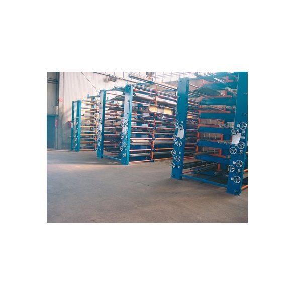 Csavar-orsóval állítható konzolos állvány, terhelhetőség: 25 t, sz x mé x m 5100x1530x2540 mm
