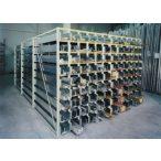 Kazettás polcrendszer 36 db tálcával, 3000x1500x2000 mm