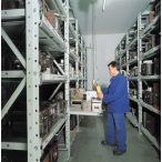Kihúzható polcos polcrendszer nehéz teherhez, 1200x1000x2000 mm