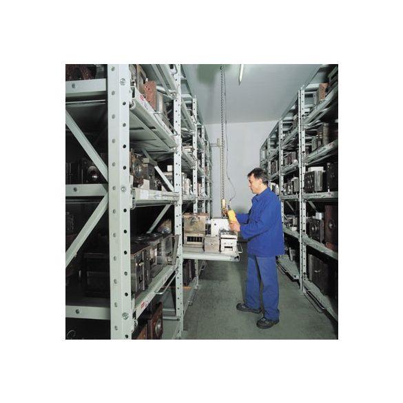 Kihúzható polcos polcrendszer nehéz teherhez, 800x1000x2500 mm, bővítmény