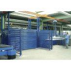Fiókos polcrendszer táblalemez tárolására, 2250x2100x2000 mm