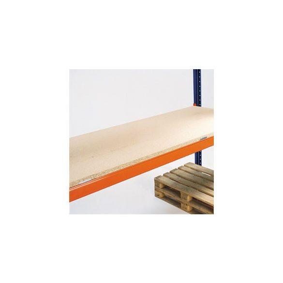 Forgácslap-polc raklapállványhoz, 38 mm vastag, szel x mély: 1800x1100 mm