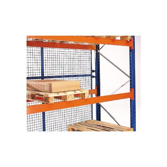 Rácsos hátsófal raklapállványhoz, rácsosztás: 50x50 mm, sz x m 2700x1500 mm