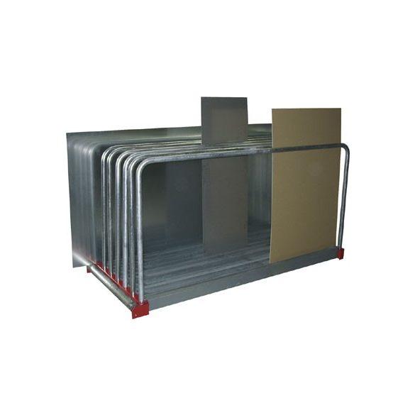 Táblalemez tároló állvány, 9 rekeszes, 2030x800x1000 mm