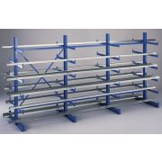 Konzolos állvány acéllemez polccal, két oldalas, 5 db rakodószint, 1000x920x2000 mm, bővítmény