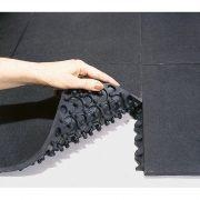Nagy kopásállóságú gumiburkolat peremmel 900x900x16 mm