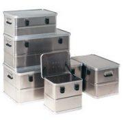 Aluminium fedeles láda 570 x 370 x 270 mm 47 L