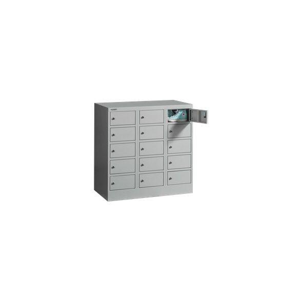 15 rekeszes alacsony kisrekeszes értékmegőrző szekrény
