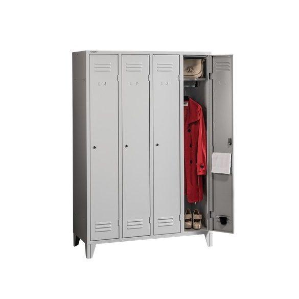 Hosszúajtós öltözőszekrény 4 ajtós
